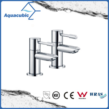 UK Style Brass Body Zinc Handle Two Bathroom Faucet (AF6002-2)
