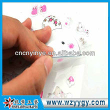Low price sticker for decoration, palstic printing PVC sticker