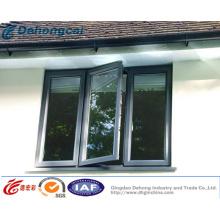 Ventaja térmica aluminio abatible ventana China Gold Supplier