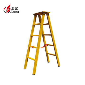 heißer Verkauf Fiberglasisolierung doppelte 4-Stufen-Leiter mit Sicherheitsschiene