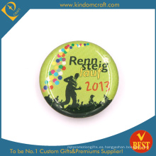 Lauf Button Button Badge in Zinc Alloy with Epoxy