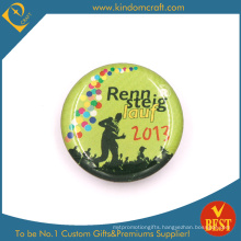 Lauf Tin Button Badge in Zinc Alloy with Epoxy