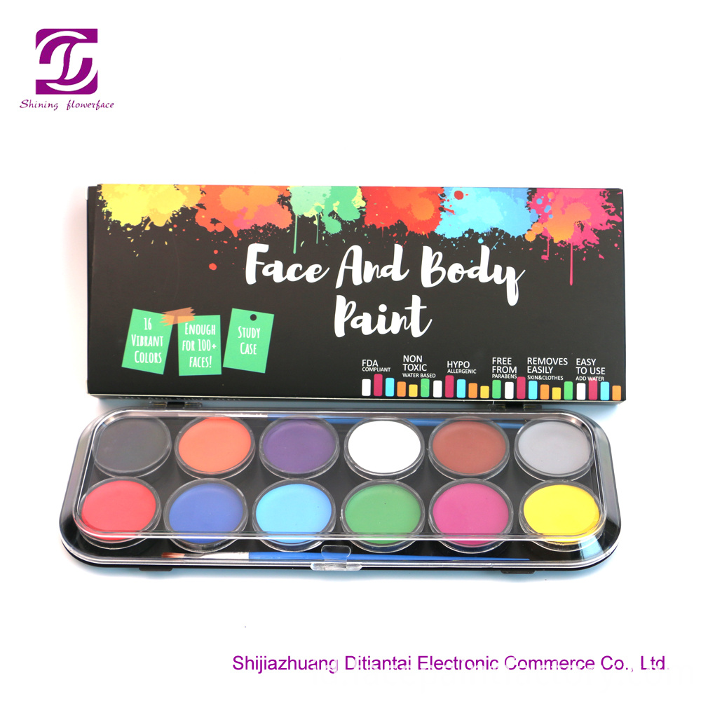 12 Colors Facepaint