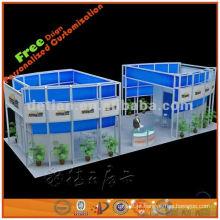 3 estandes de exposição modulares personalizados do lado aberto feitos em Shanghai