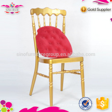 Brand new Qindao Sinofur metal napoleon chair used for restaurant