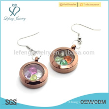 Especiais estilos de jóias brincos de chocolate, design top rodada brincos encantos