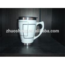 Горячие продажи продукта из нержавеющей стали оптовая пользовательских керамическая кружка кофе с крышкой