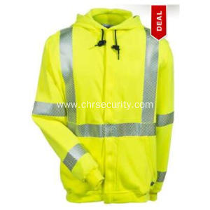 Men's Yellow Hi Vis FR Fleece Sweatshirt
