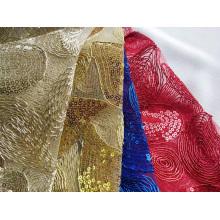 Broderie de corde de polyester fantaisie pour robe de femme