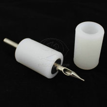 White Silicone Tattoo Machine Grip Cover