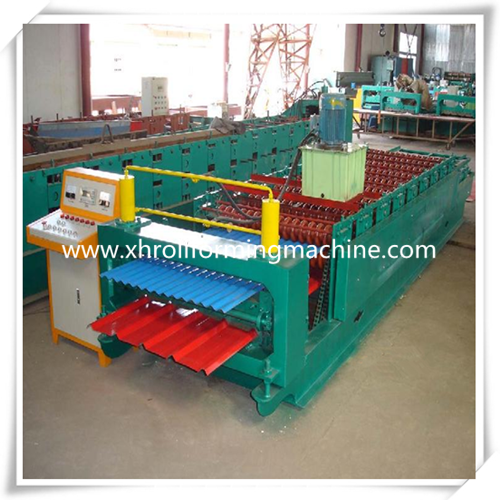 Double Layer Corrugated Tile Roof Roll Forming Machine