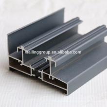 Perfis de alumínio com acabamento de revestimento em pó