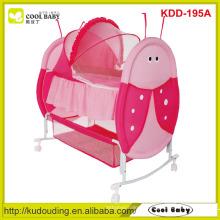 Fabricant Baby Cradle Desigh NOUVEAU Swing Bed Red Pick Color Portable Baby Cradle Grand panier de rangement Butterfly Moustiquaire