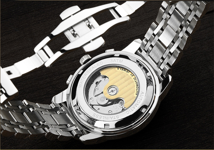 bands stainless steel water resistant brand men watch