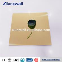 Im Freiengoldspiegelluminium-Verbundplatte des Aluminium-Lieferanten der hohen Qualität
