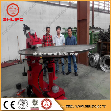 dished end flanging machine