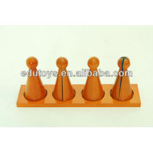 Montessori Large Fraction Skittles with Stand( Beechwood)