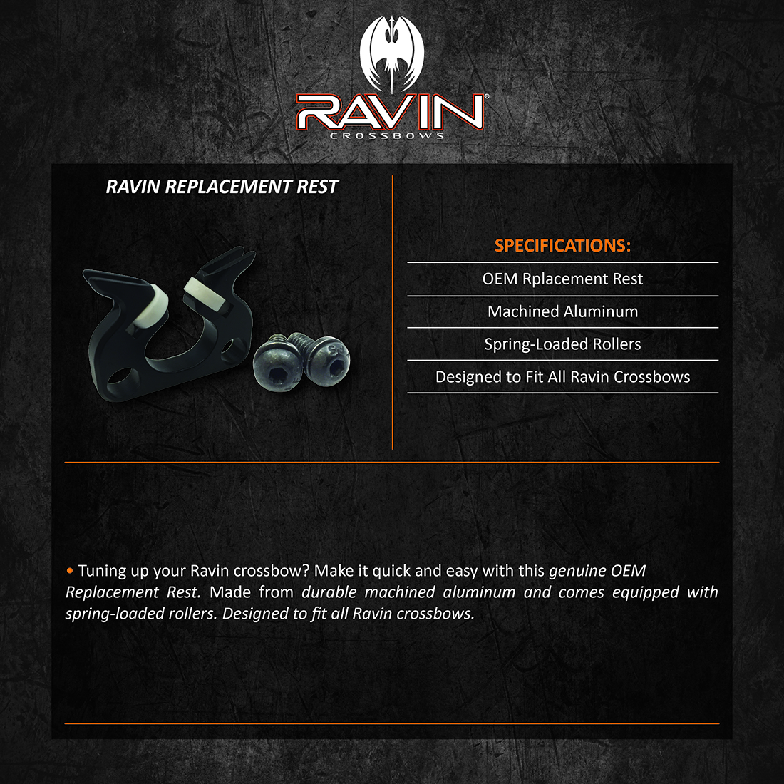Ravin_Replacement_Rest_Product_Description