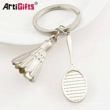 Chine fabrication promotion plaque métallique mini tennis ball keychain