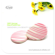 Dual Color SBR Latex Facial Cleaning Puff With Custom Logo