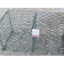 Gaviones de malla de alambre tejido recubierto de plástico