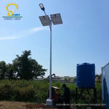 célula fotovoltaica de aço galvanizado por imersão a quente 100 w led luz de imagem solar