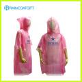 Одноразовые PE розовый дождь пончо ПЭС-002