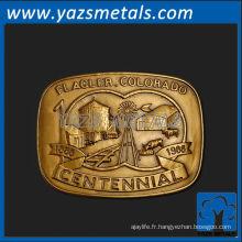 personnalisez la boucle de ceinture en métal, le diable personnalisé de haute qualité, les boucles de ceinture colorado centennial
