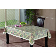 PVC Embossing Tablecloth with Flannel Backing (TJG0010)