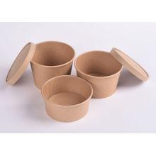 Umweltfreundliche Packpapier-Suppentasse