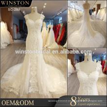 Nuevo diseño por encargo china guangzhou vestido de boda