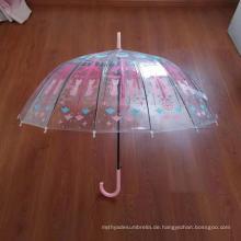 Special Shape Helm Transparent POE Umbrella Promotional