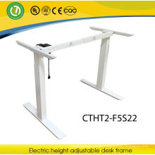 height adjustable model dressing table desk frame single moter