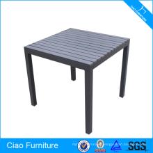 Mesa de material de madeira plástica e mobília de sala de jantar