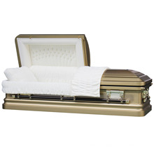 Ronde de coin 18 Ga fauve cercueil d'acier