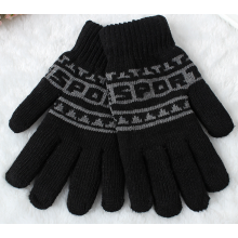 Jacqaurd Fiver Fingers Warm Acrylic Winter Knitting Gloves