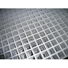 Rejilla moldeada de fibra de vidrio / FRP / GRP Rejilla gris