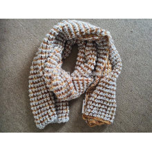 Ladies winter fancy yarn knitted sequin scarf