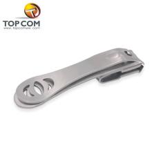 2017 nuevo agujero de acero inoxidable cortador de uñas con limas de uñas