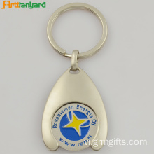 Xe đẩy Coin Keychain Với khắc Laser