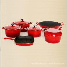 6PCS эмаль чугунная посуда набор Производитель из Китая