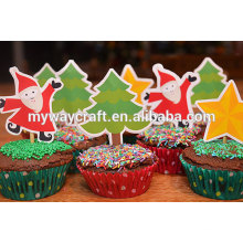 beautiful and colorful 3d christmas paper cake toppers/cake stands