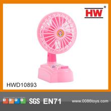 子供のためのプラスチック ピンク ミニ扇風機グッズ