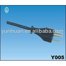power cable 230v swiss CH approval mains cord lead assy