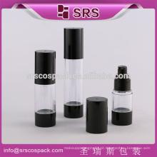 SRS 15ml 30ml 50ml produtos cosméticos acrílicos da bomba redondos para o skincare e a embalagem vazia garrafa plástica do creme airless