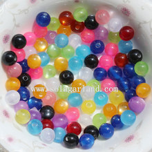Fashion Ball Round Resin Cat`s Eye Jewelry Spacer Beads with Colors