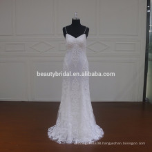 satin embroidery wedding dress