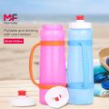 Maratón corriendo botella de agua deportiva | Hervidor de silicona
