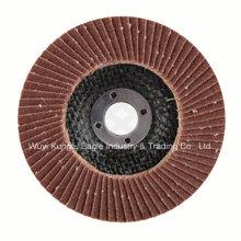 Disco de aluminio de la aleta del óxido con el forro de la fibra plástica para pulir