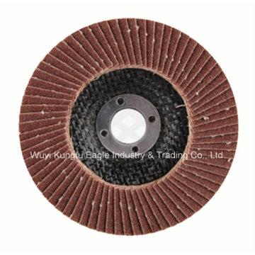 Disco de Alumínio Oxide Flap com Revestimento de Fibra de Plástico para Polimento